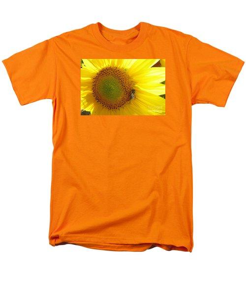 Men's T-Shirt  (Regular Fit) featuring the photograph Bee On Sunflower by Jean Bernard Roussilhe