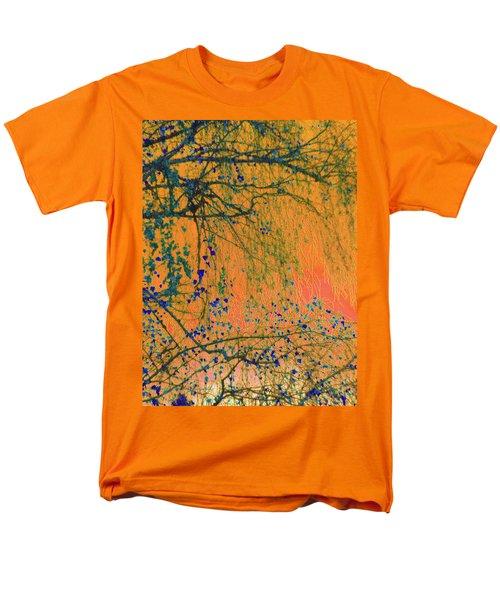 Birch Tree And Orange Sky - Winter Men's T-Shirt  (Regular Fit) by Brooks Garten Hauschild