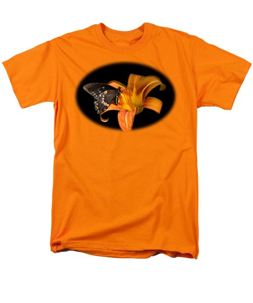 Black Beauty Butterfly Men's T-Shirt  (Regular Fit) by Christina Rollo