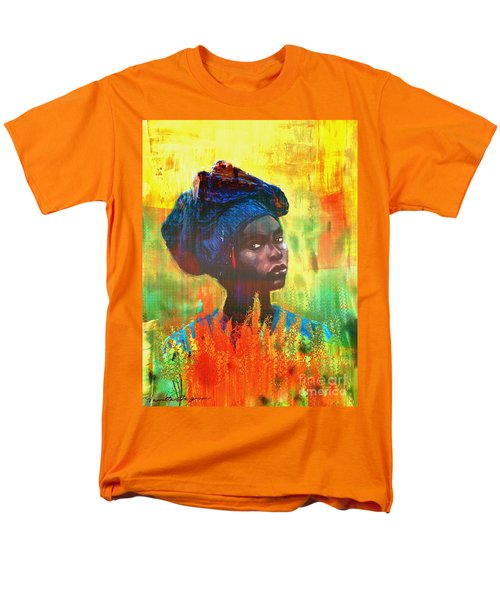 Black Beauty Men's T-Shirt  (Regular Fit) by Vannetta Ferguson
