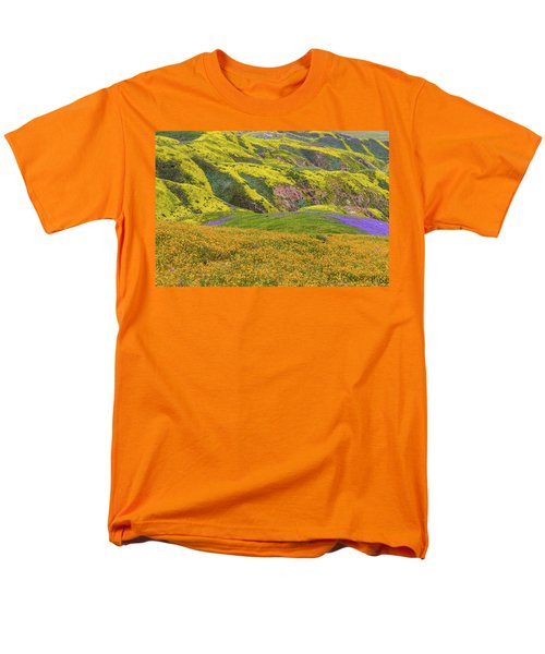 Blazing Star On Temblor Range Men's T-Shirt  (Regular Fit) by Marc Crumpler