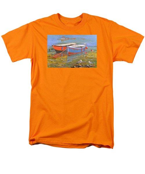 Blue And Orange Men's T-Shirt  (Regular Fit) by Bill Holkham