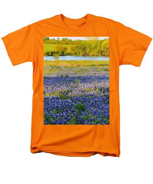 Bluebonnet Field Men's T-Shirt  (Regular Fit) by Debbie Karnes
