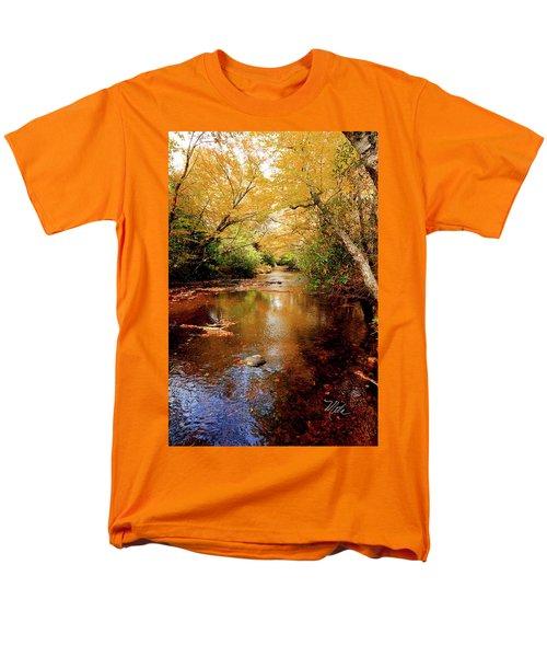Men's T-Shirt  (Regular Fit) featuring the photograph Boone Fork Stream by Meta Gatschenberger