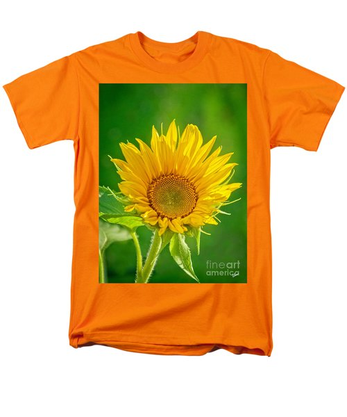 Bright Yellow Sunflower Men's T-Shirt  (Regular Fit) by Alana Ranney