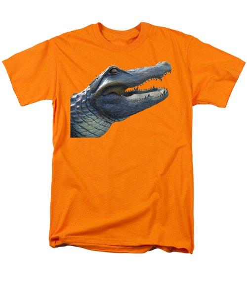 Bull Gator Portrait Transparent For T Shirts Men's T-Shirt  (Regular Fit) by D Hackett