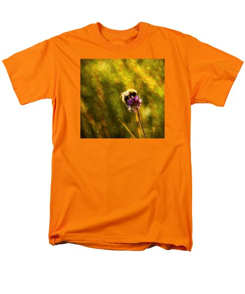 Men's T-Shirt  (Regular Fit) featuring the photograph Bumblebee  by Rose-Maries Pictures