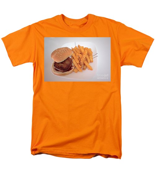 Men's T-Shirt  (Regular Fit) featuring the photograph Burger And Fries by Anne Rodkin