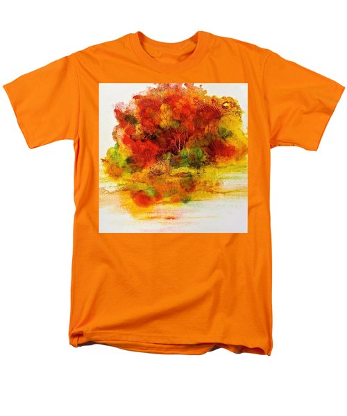 Men's T-Shirt  (Regular Fit) featuring the painting Burst Of Nature IIi by Carolyn Rosenberger