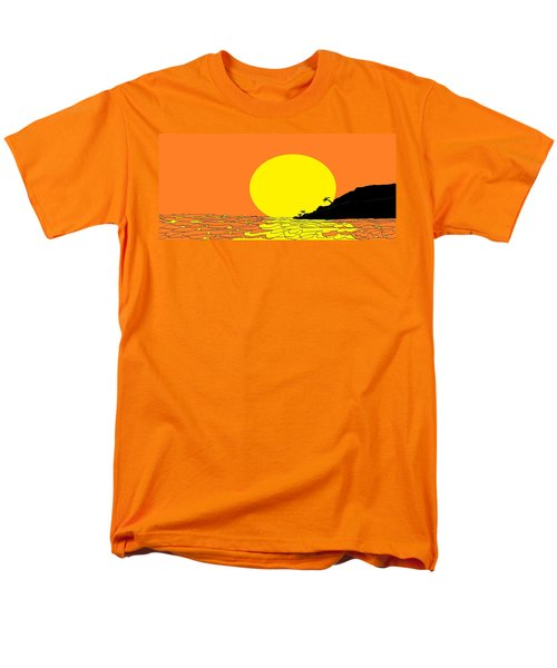 Burst Of Yellow Men's T-Shirt  (Regular Fit) by Linda Velasquez
