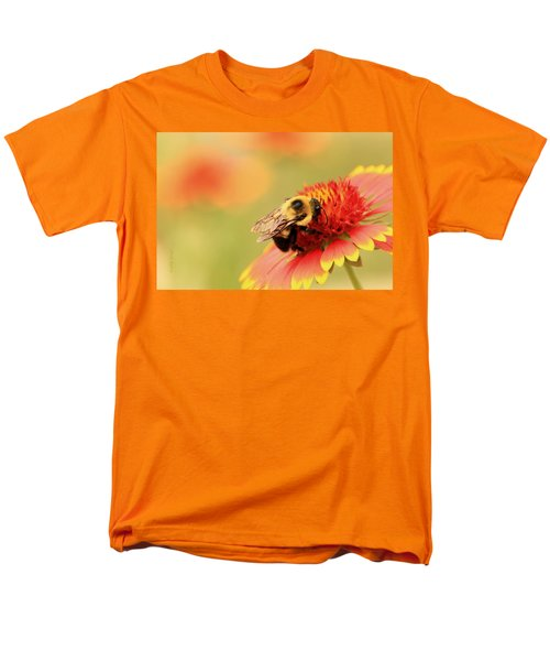 Men's T-Shirt  (Regular Fit) featuring the photograph Busy Bumblebee by Chris Berry