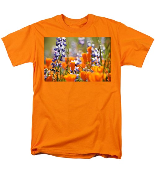 California Poppies And Lupine Men's T-Shirt  (Regular Fit) by Kyle Hanson
