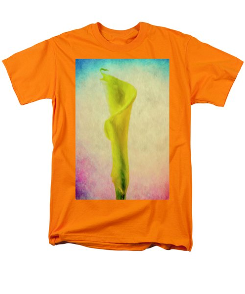 Men's T-Shirt  (Regular Fit) featuring the photograph Calla Lilly Echo Flower by David Haskett