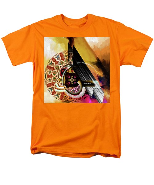 Men's T-Shirt  (Regular Fit) featuring the painting Calligraphy 103 1 1 by Mawra Tahreem