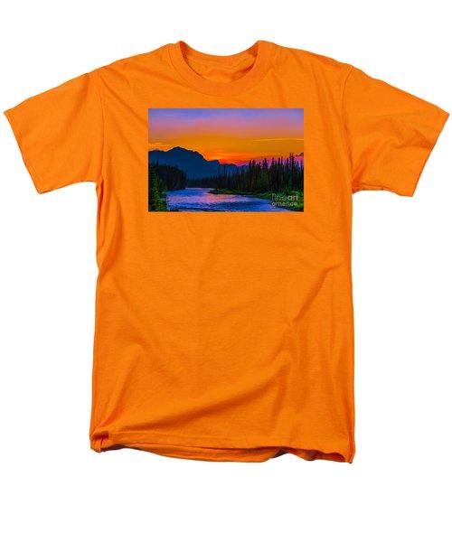 Canadian Rocky Sunset Men's T-Shirt  (Regular Fit) by John Roberts