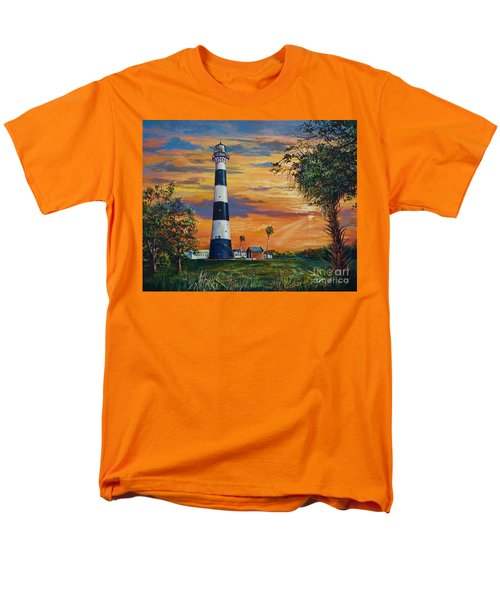 Men's T-Shirt  (Regular Fit) featuring the painting Cape Canaveral Light by AnnaJo Vahle