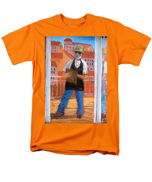 Men's T-Shirt  (Regular Fit) featuring the painting Captured In Antibes by Gary Coleman