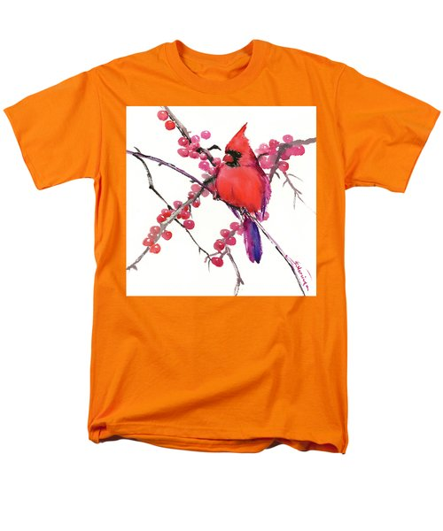 Cardinal And Berries Men's T-Shirt  (Regular Fit) by Suren Nersisyan
