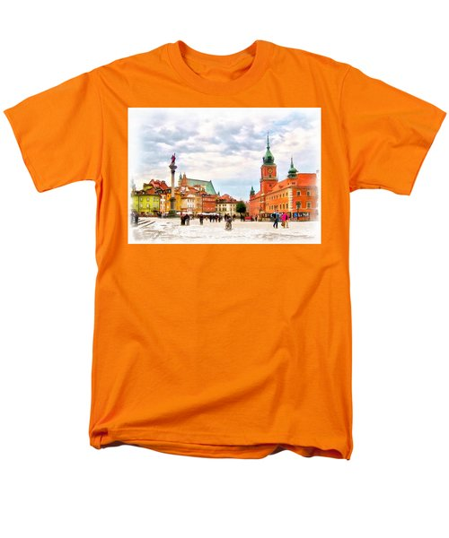 Men's T-Shirt  (Regular Fit) featuring the painting Castle Square, Warsaw by Maciek Froncisz