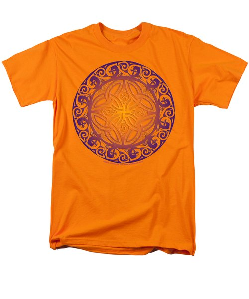 Men's T-Shirt  (Regular Fit) featuring the mixed media Celtic Shield by Kristen Fox