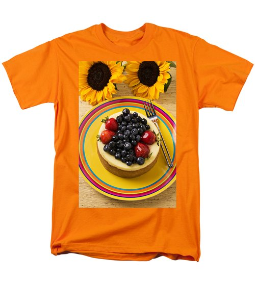 Cheesecake With Fruit Men's T-Shirt  (Regular Fit) by Garry Gay
