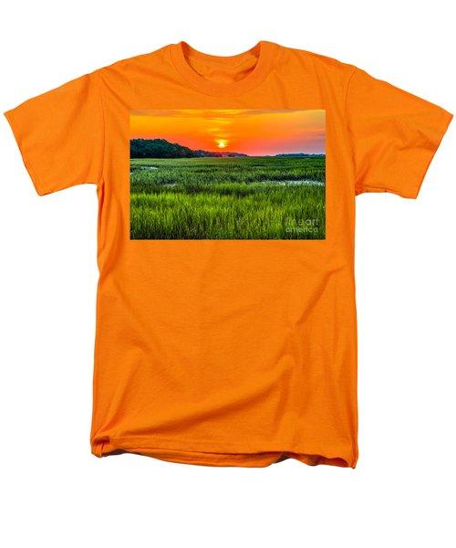 Cherry Grove Marsh Sunrise Men's T-Shirt  (Regular Fit) by David Smith