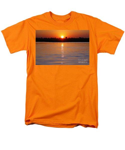 Chobe River Sunset Men's T-Shirt  (Regular Fit) by Myrna Bradshaw