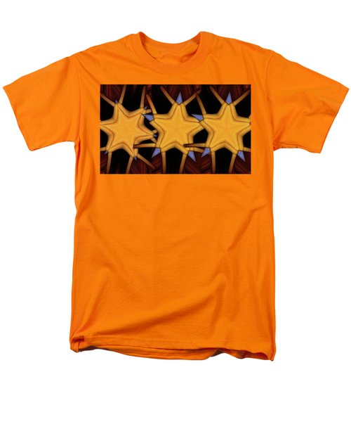 Men's T-Shirt  (Regular Fit) featuring the digital art Clawed Stars  by Ron Bissett