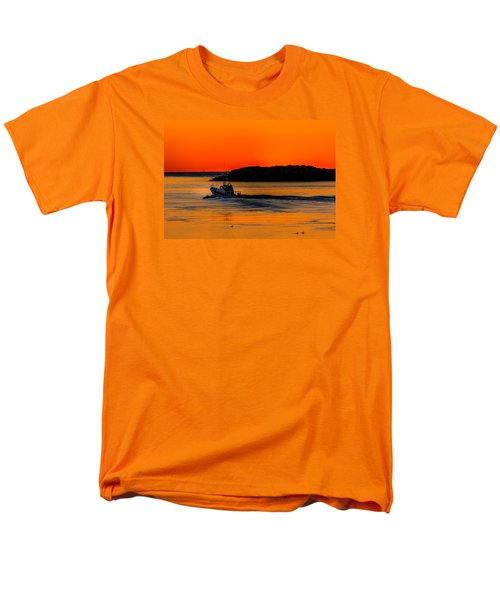 Men's T-Shirt  (Regular Fit) featuring the photograph Coast Guard  by Jerry Cahill