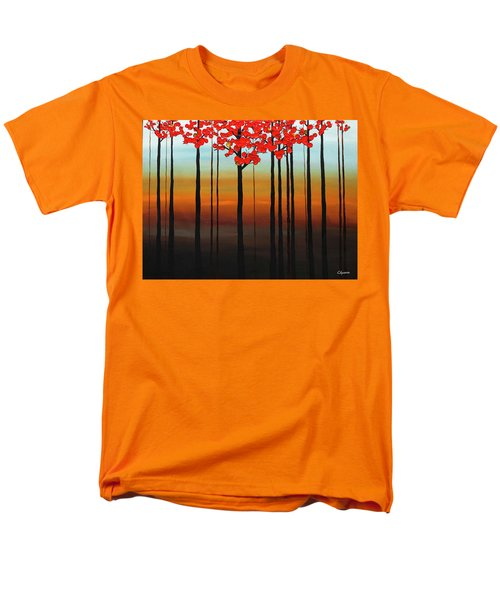 Men's T-Shirt  (Regular Fit) featuring the painting Coastal Radiance by Carmen Guedez
