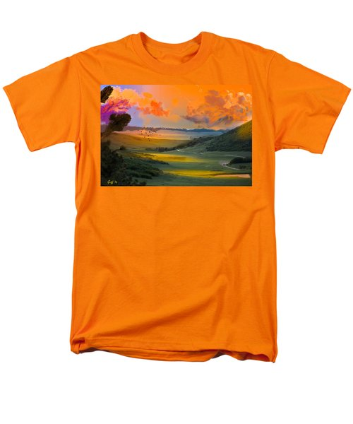 Colorado Big Valley Sunrise Men's T-Shirt  (Regular Fit) by J Griff Griffin