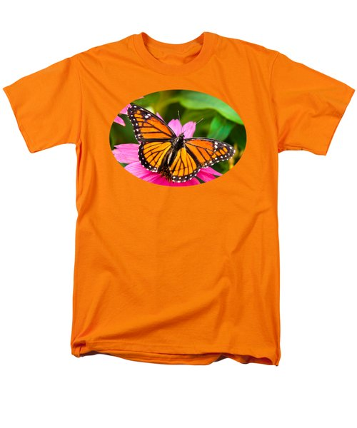 Colorful Butterflies - Orange Viceroy Butterfly Men's T-Shirt  (Regular Fit) by Christina Rollo