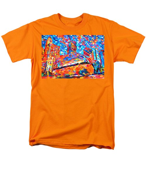 Men's T-Shirt  (Regular Fit) featuring the painting Colorful Chicago Bean by Dan Sproul