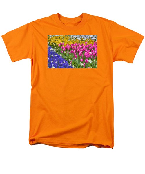 Colorful Flowers Men's T-Shirt  (Regular Fit) by Nadia Sanowar
