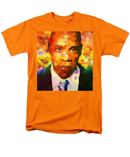 Colorful Jay Z Palette Knife Men's T-Shirt  (Regular Fit) by Dan Sproul