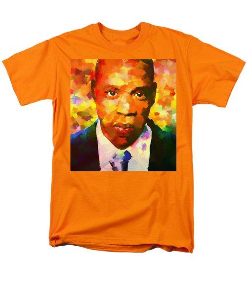 Colorful Jay Z Palette Knife Men's T-Shirt  (Regular Fit) by Dan Sproul