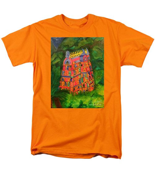 Men's T-Shirt  (Regular Fit) featuring the painting Colorful Temple Gopuram by Brindha Naveen