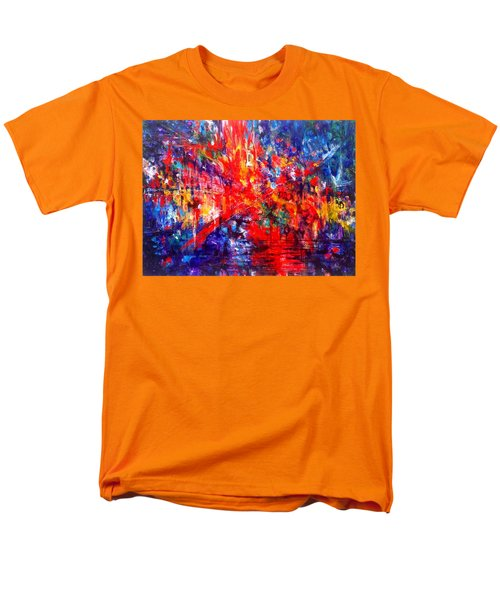 Composition # 1. Series Abstract Sunsets Men's T-Shirt  (Regular Fit) by Helen Kagan