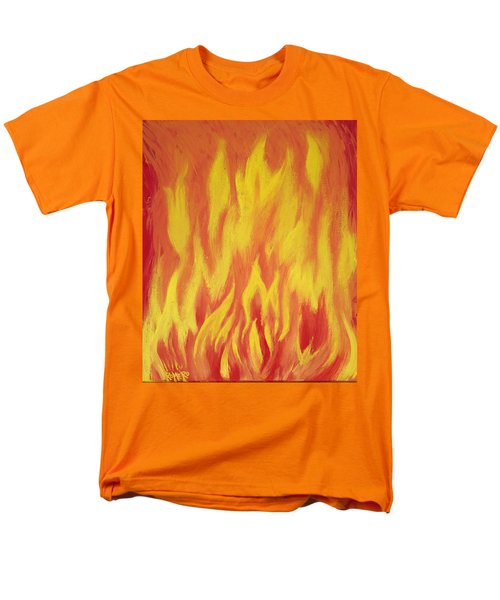Men's T-Shirt  (Regular Fit) featuring the painting Consuming Fire by Antonio Romero