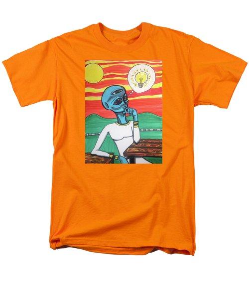 Contemplative Alien Men's T-Shirt  (Regular Fit)
