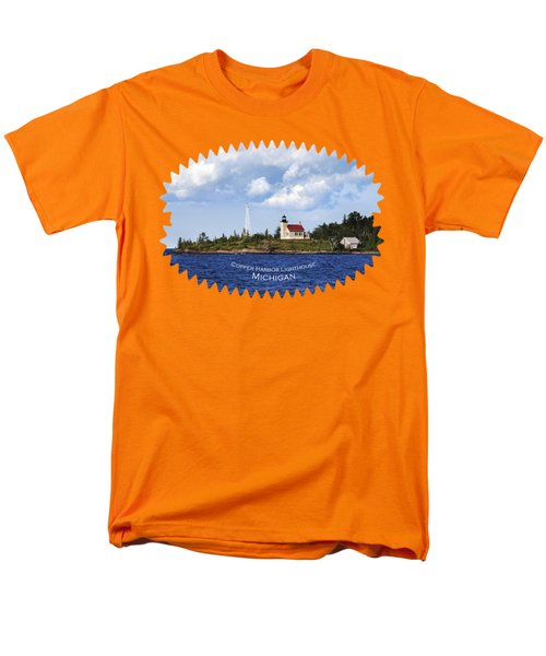 Copper Harbor Lighthouse Men's T-Shirt  (Regular Fit) by Christina Rollo