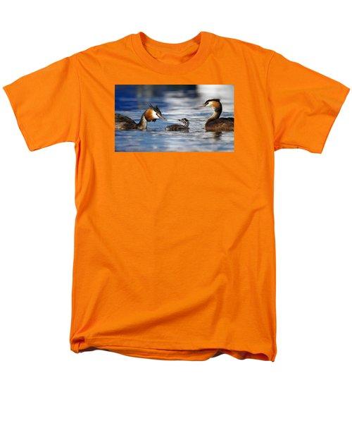 Crested Grebe, Podiceps Cristatus, Ducks Family Men's T-Shirt  (Regular Fit) by Elenarts - Elena Duvernay photo