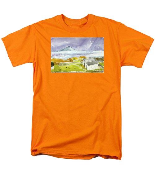 Croagh Patrick And Purple Sky Men's T-Shirt  (Regular Fit)