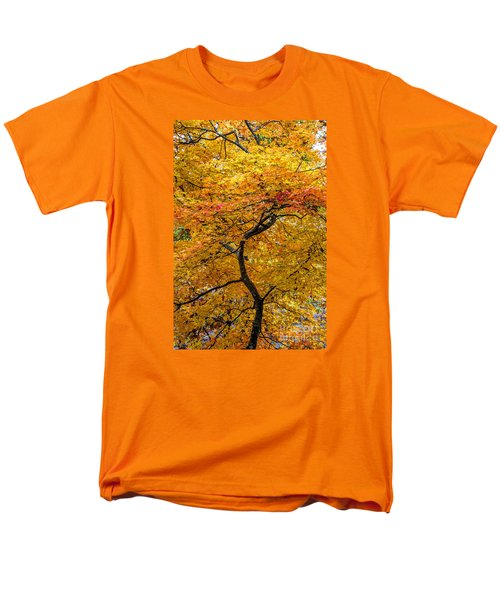 Men's T-Shirt  (Regular Fit) featuring the photograph Crooked Tree Trunk by Barbara Bowen