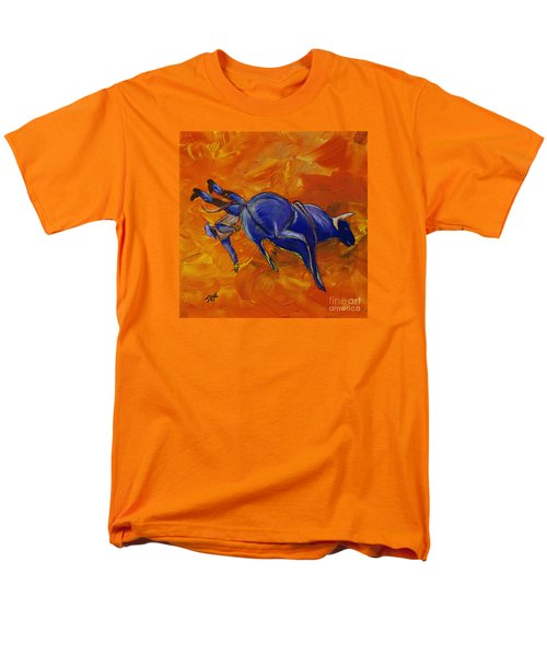 Men's T-Shirt  (Regular Fit) featuring the painting Danny At The Rodeo by Janice Rae Pariza