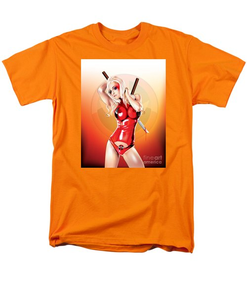 Men's T-Shirt  (Regular Fit) featuring the drawing Deadpool With Jen by Brian Gibbs