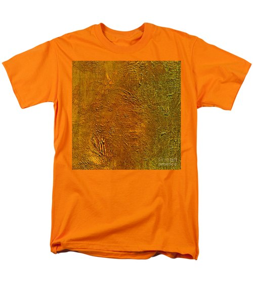 Men's T-Shirt  (Regular Fit) featuring the mixed media Deep Gold by Michael Rock