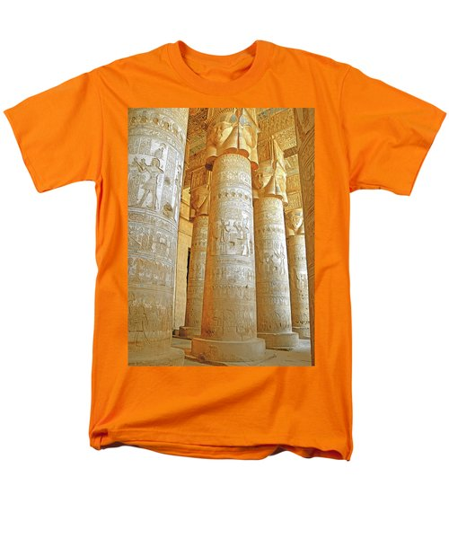 Dendera Temple Men's T-Shirt  (Regular Fit) by Nigel Fletcher-Jones
