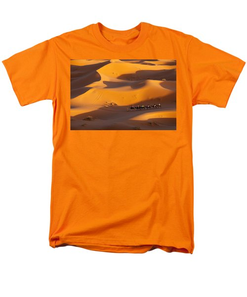 Desert And Caravan Men's T-Shirt  (Regular Fit) by Aivar Mikko