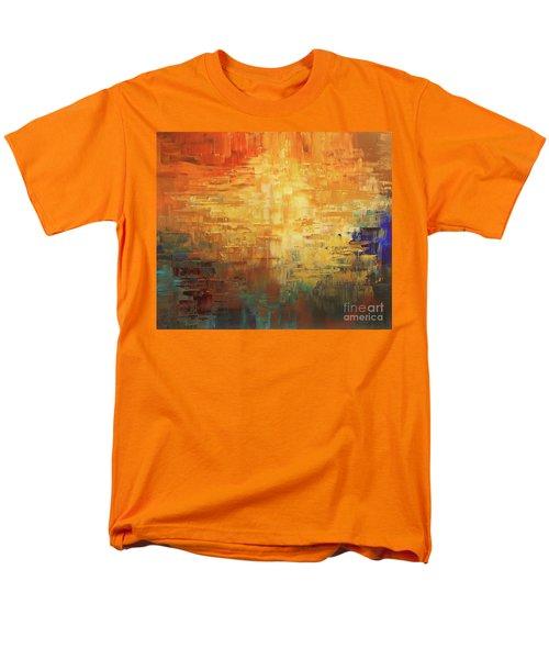 Men's T-Shirt  (Regular Fit) featuring the painting Dinosaur Lowlands by Tatiana Iliina